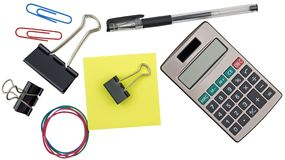 Stationery and calculator Stock Image
