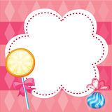 A stationery with candies Royalty Free Stock Image