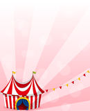 A stationery with a circus tent design Royalty Free Stock Image