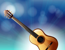 A stationery with a classical guitar Stock Images