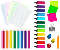 Stationery - Collection Royalty Free Stock Photography