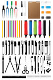Stationery Collection Vector Royalty Free Stock Photos
