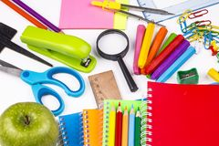 The School stationery Stock Images