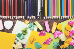 Stationery concept Royalty Free Stock Images