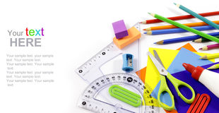 Stationery with copy space Royalty Free Stock Images