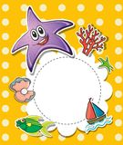 A stationery with creatures found at the beach Stock Photography