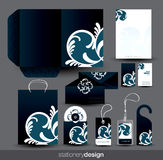 Stationery design set Royalty Free Stock Image