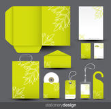 Stationery design set Royalty Free Stock Photography