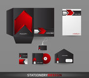 Stationery design set Stock Photo