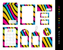 Stationery design set Royalty Free Stock Images