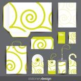 Stationery design set Royalty Free Stock Images