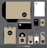 Stationery design set Stock Photos