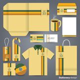 Stationery design set design. Royalty Free Stock Photography