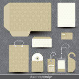Stationery design set Royalty Free Stock Image