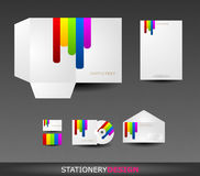 Stationery design set in vector format Royalty Free Stock Image