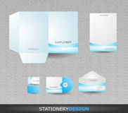 Stationery design set in vector format Stock Image