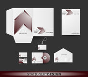Stationery design set in vector format Stock Photos
