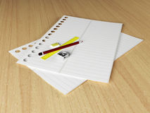 Stationery on the desk Royalty Free Stock Photo