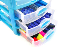 Stationery drawer Stock Photos