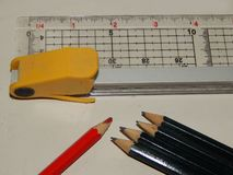 Stationery for drawing. And sketching stock photos