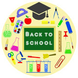 Stationery for education. Stationery for school. Vector image Royalty Free Stock Photo