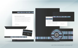 Stationery with elements Royalty Free Stock Images