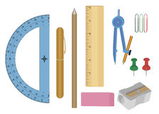 Stationery equipment. Various items of stationery equipment Stock Photo