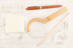 Stationery equipments Royalty Free Stock Image