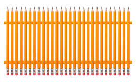 Stationery - Fence from pencils Stock Photos