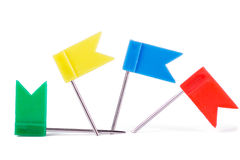 Stationery flags in different colors stock images