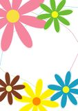 Stationery: Floral design. Background with colorful flowers, suitable for letterheads, cards and flyers Stock Photos