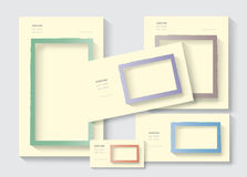 Stationery picture frames set royalty free illustration