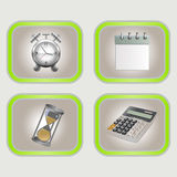 Stationery on a gray background Stock Images