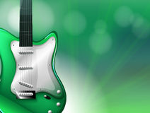 A stationery with a guitar Royalty Free Stock Images