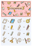 Stationery icon doodle Royalty Free Stock Photography