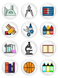 Stationery icon set Stock Image