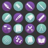Stationery Icon Set Royalty Free Stock Image