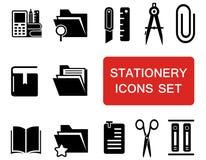 Stationery icon set Stock Photography