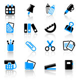 Stationery icons Royalty Free Stock Photography
