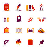 Stationery icons Stock Images