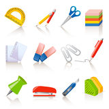 Stationery Icons Royalty Free Stock Images