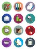 Stationery icons Royalty Free Stock Photos