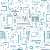 Stationery icons seamless pattern Stock Photo