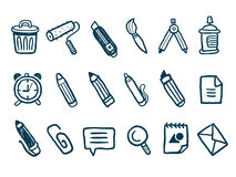 Stationery icons set Royalty Free Stock Photos