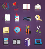Stationery icons set Stock Photography