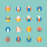 Stationery icons set. Royalty Free Stock Images