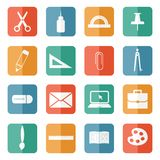 Stationery icons. Royalty Free Stock Photography