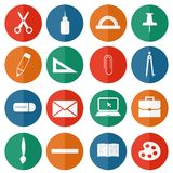 Stationery icons. Stock Photo