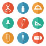 Stationery icons Stock Photography
