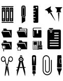 Stationery isolated icons set vector illustration